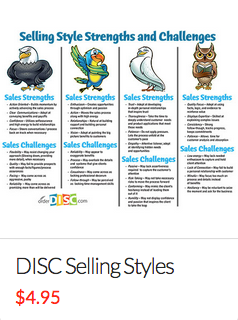 DISC Selling Styles Cheat Sheet